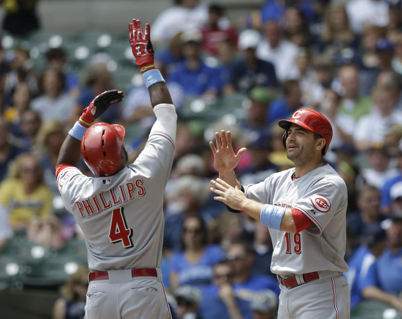 Reds power past Brewers 13-4 with 3 homers