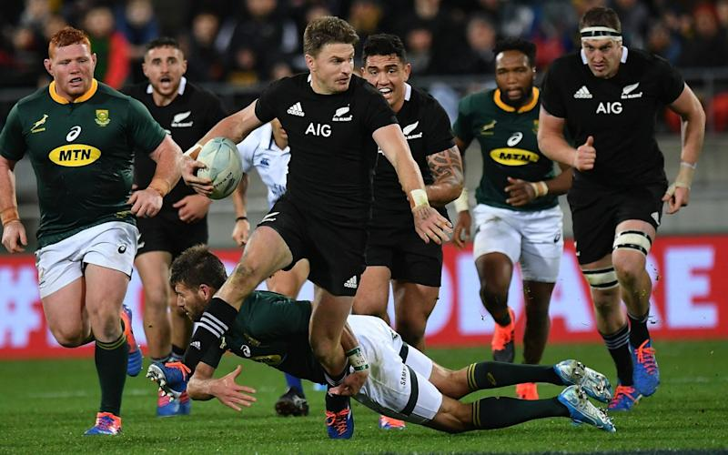 Beauden Barrett's starting position remains unclear ahead of the All Black's World Cup opener - AFP