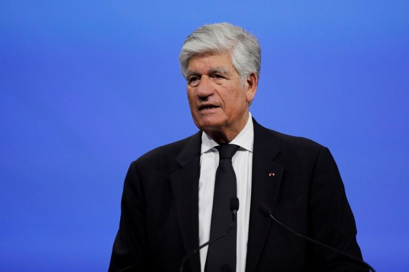 Maurice Levy, outgoing chief executive officer of Publicis Group SA, delivers a speech at the Viva Technology conference in Paris, France, June 15, 2017. REUTERS/Benoit Tessier