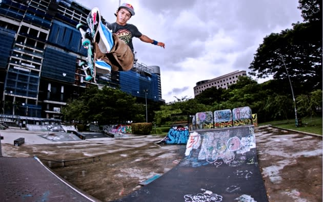 Farris Rahman earned his seasoned stripes in the skate parks of Singapore. (Photo courtesy of Red Bull Content Pool)