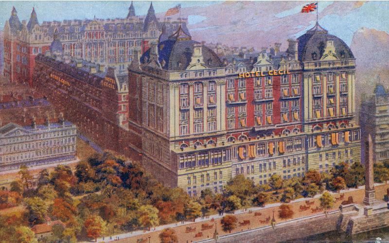 The Cecil had 800 spacious rooms, making it the largest hotel in Europe - Credit: Chronicle / Alamy Stock Photo