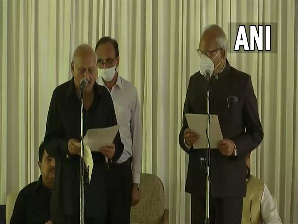 Visual from oath-taking ceremony at Raj Bhavan in Chandigarh on Sunday. (Photo/ANI)
