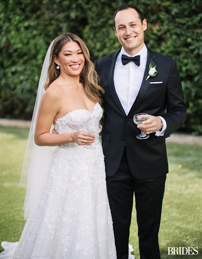 """<p>""""The overarching messages were: 'best party; great food; best speeches and best vows we've heard.' """" <a href=""""https://www.brides.com/jenna-ushkowitz-wedding-5195978"""" rel=""""nofollow noopener"""" target=""""_blank"""" data-ylk=""""slk:Ushkowitz recounted"""" class=""""link rapid-noclick-resp"""">Ushkowitz recounted</a> of how friends and family remembered the day. """"And I'm like, 'We did it! Raving review!'""""</p>"""