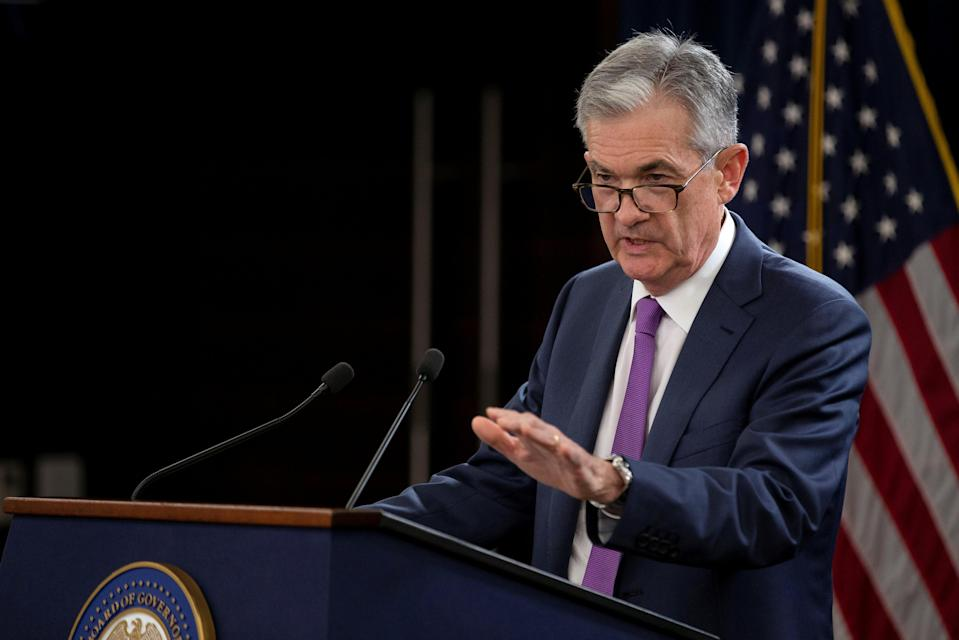 U.S. Federal Reserve Chairman Jerome Powell holds a news conference following a two-day Federal Open Market Committee (FOMC) policy meeting in Washington, U.S., September 26, 2018. REUTERS/Al Drago