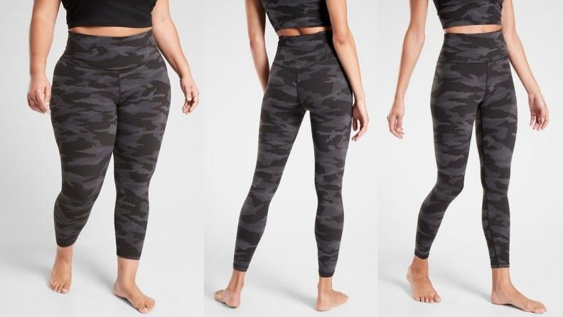 Camo tights are part of the It yoga uniform.