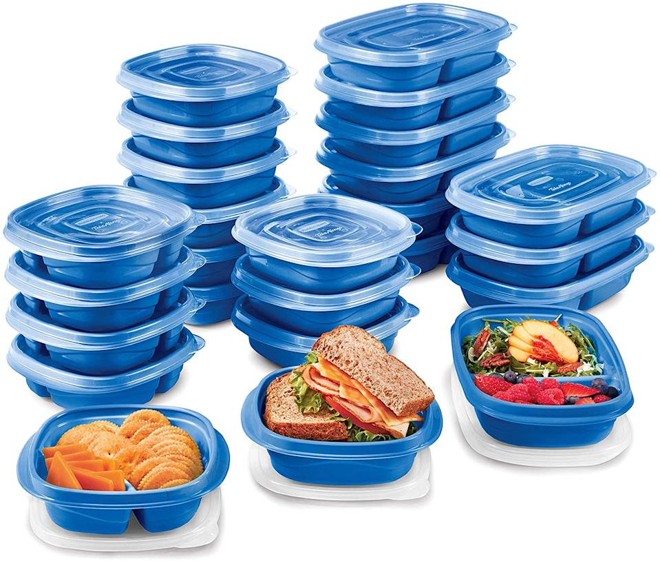 Rubbermaid TakeAlongs On The Go Food Storage and Meal Prep Containers, Set of 25 (Photo: Amazon)
