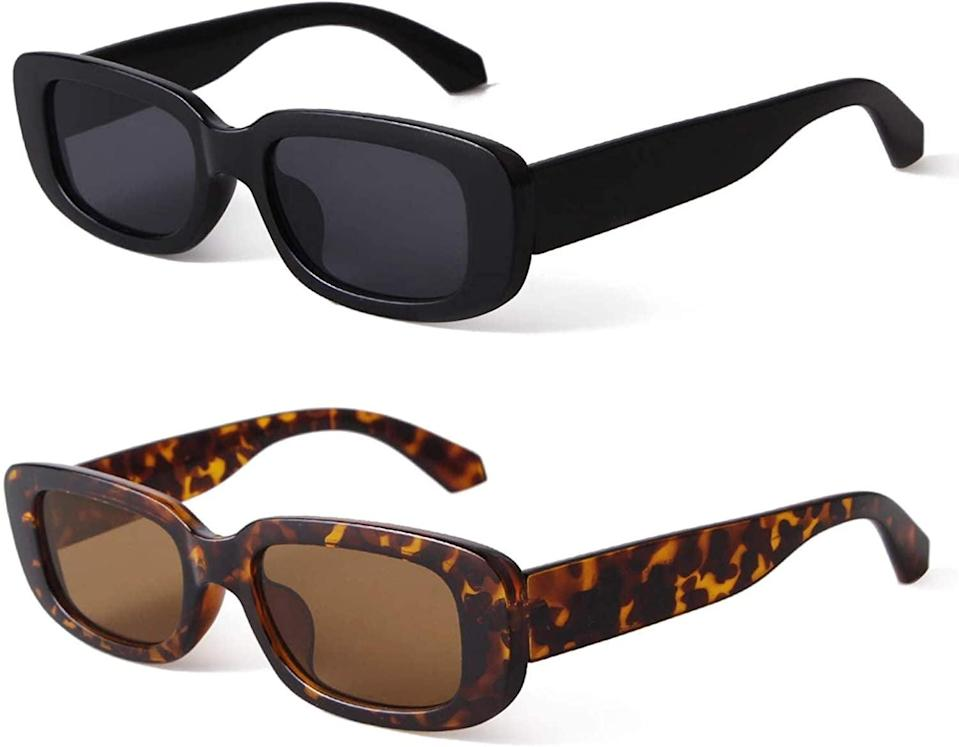 <p>Embrace the '90s vibe with these <span>Butaby Retro Rectangle Sunglasses </span> ($21).</p>