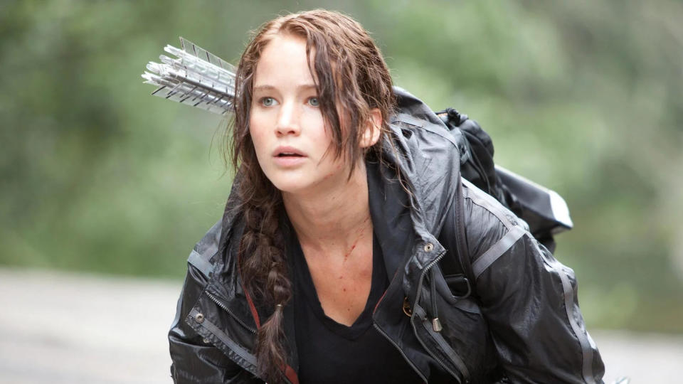 Jennifer Lawrence in 'The Hunger Games'. (Credit: Lionsgate)