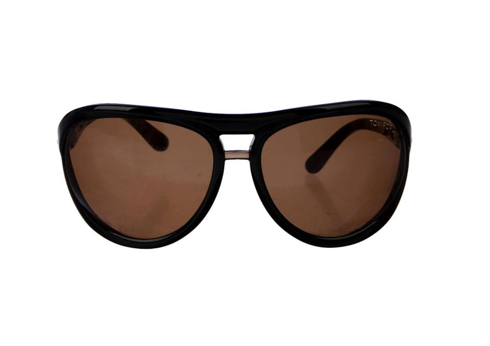 """<br><br><strong>Tom Ford</strong> Cameron Sunglasses, $, available at <a href=""""https://go.skimresources.com/?id=30283X879131&url=https%3A%2F%2Fwww.therealreal.com%2Fproducts%2Fwomen%2Faccessories%2Fsunglasses%2Ftom-ford-cameron-sunglasses-7xb9h%3Fposition%3D113"""" rel=""""nofollow noopener"""" target=""""_blank"""" data-ylk=""""slk:TheRealReal"""" class=""""link rapid-noclick-resp"""">TheRealReal</a>"""