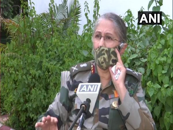 Deputy Chief of Integrated Defence Staff (Medical) Lieutenant General Madhuri Kanitkar speaking to ANI. (Photo/ ANI)