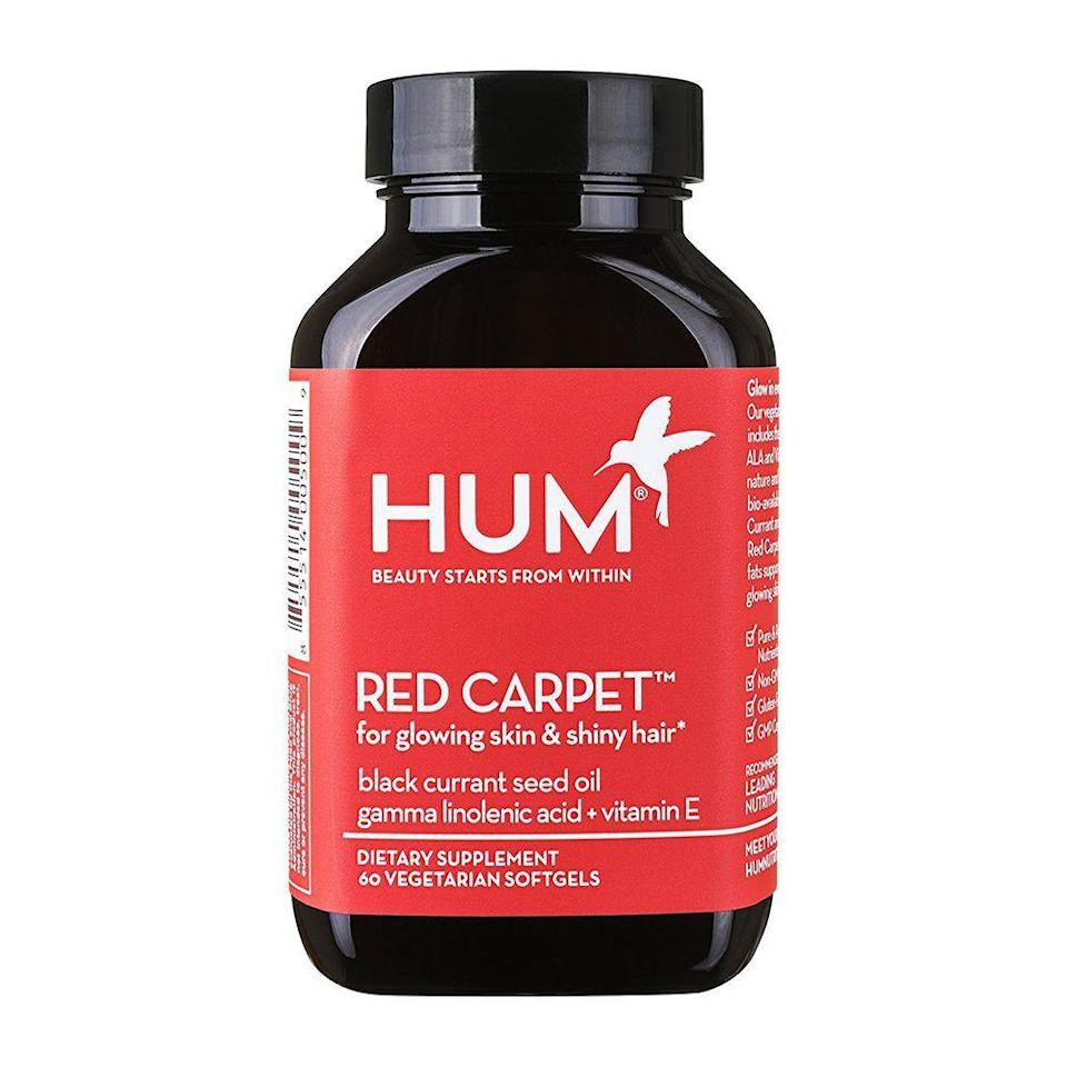 """<p><strong> HUM Nutrition</strong></p><p>amazon.com</p><p><strong>$26.00</strong></p><p><a href=""""https://www.amazon.com/dp/B00NFZ3MNO?tag=syn-yahoo-20&ascsubtag=%5Bartid%7C2089.g.912%5Bsrc%7Cyahoo-us"""" rel=""""nofollow noopener"""" target=""""_blank"""" data-ylk=""""slk:Shop Now"""" class=""""link rapid-noclick-resp"""">Shop Now</a></p><p>HUM's hair growth vitamin formula contains something that most others don't: blackcurrant seed oil. It's an omega-6 fatty acid that can help encourage hair growth and healthy skin cell development. </p><p>These supplements are packed with plenty of other scientifically proven ingredients that are all sustainably sourced. </p>"""