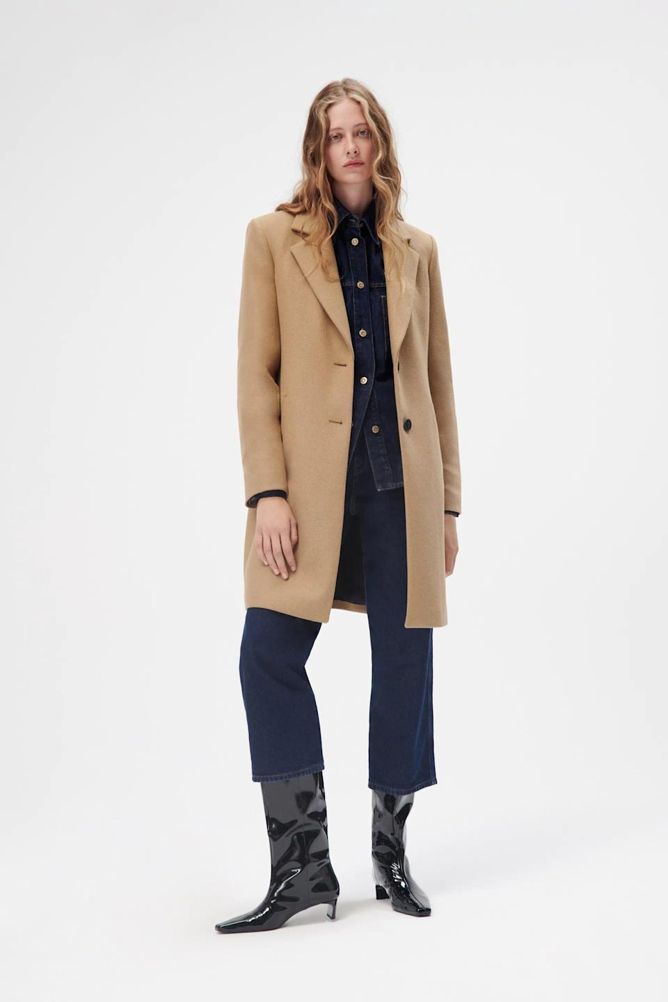 <p>This <span>Zara Wool Coat</span> ($120) will finish off any look with ease and put-togetherness. We like the laidback vibe oozing from the construction.</p>
