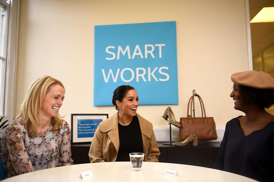The Duchess of Sussex visited Smart Works on the day she announced she would become a Patron for the charity [Photo: PA]