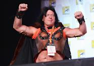 <p>Apparently Cranston is not the only one of his cast-mates who likes to cosplay — his <i>Breaking Bad </i>co-star Dean Norris dressed as Xena during the show's 2012 Comic-Con panel. <i>(Photo: Mark Davis/Getty Images)</i></p>