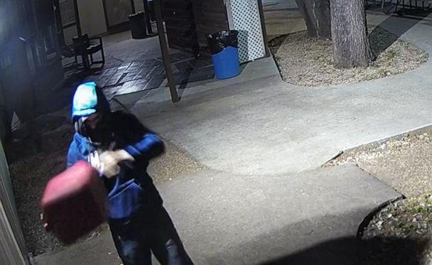 PHOTO: Police released images of a suspect appearing to attempt arson at the North Austin Muslim Center on April 23, 2019, in Austin, Texas, captured on security video. (Austin Fire Department)