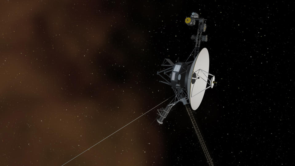 This undated artist's concept depicts NASA's Voyager 1 spacecraft entering interstellar space, or the space between stars. NASA's Voyager 1 spacecraft is officially the first human-made object to venture into interstellar space, according to a NASA statement. The 36-year-old probe is about 12 billion miles (19 billion kilometres) from our sun. REUTERS/NASA/JPL-Caltech/Handout  (UNITED STATES - Tags: SCIENCE TECHNOLOGY)  THIS IMAGE HAS BEEN SUPPLIED BY A THIRD PARTY. IT IS DISTRIBUTED, EXACTLY AS RECEIVED BY REUTERS, AS A SERVICE TO CLIENTS. FOR EDITORIAL USE ONLY. NOT FOR SALE FOR MARKETING OR ADVERTISING CAMPAIGNS