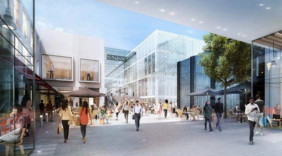 A general view of plans that had been made for Westfield Croydon (Handout)