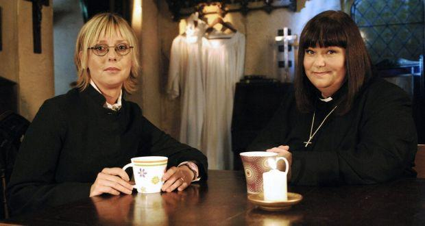 (Emma and Dawn appearing in The Vicar of Dibley. (BBC)