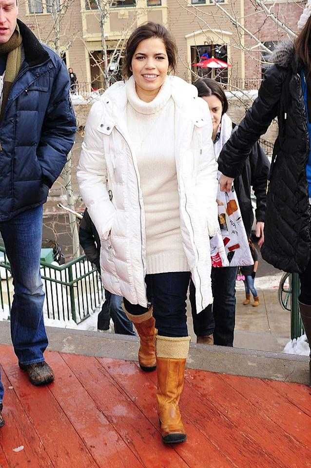 "America Ferrera got some sad news this week -- her show, ""Ugly Betty,"" won't be renewed. The actress, at Sundance to promote her film ""The Dry Land,"" was staying positive about the cancellation: ""A lot of things that have been anticipated in Betty's storyline are going to come to fruition,"" the 25-year-old star said. ""New relationships. Or old relationships that become new and kind of change a little bit."" Ray Tamarra/<a href=""http://www.gettyimages.com/"" target=""new"">GettyImages.com</a> - January 25, 2010"