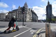 Tier demonstration of an e-scooter in London