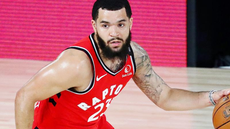 Toronto Raptors guard Fred VanVleet is pictured playing in the NBA playoffs.