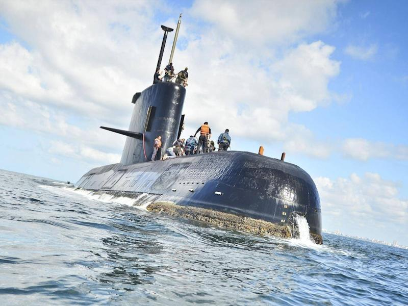 The Argentine navy said it has lost contact with the the submarine off the country's southern coast (EPA)