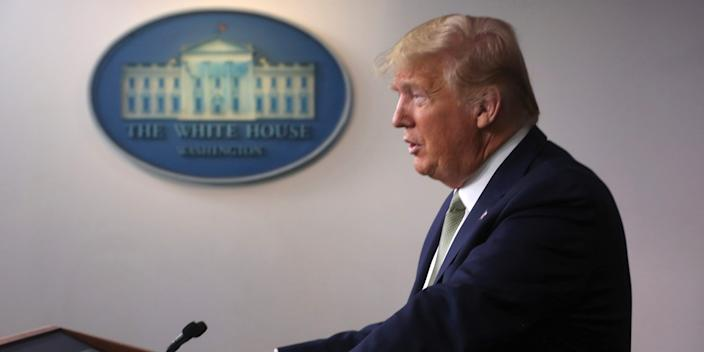 U.S. President Donald Trump addresses the daily coronavirus (COVID-19) briefing at the White House in Washington, U.S., March 17, 2020. REUTERS/Jonathan Ernst