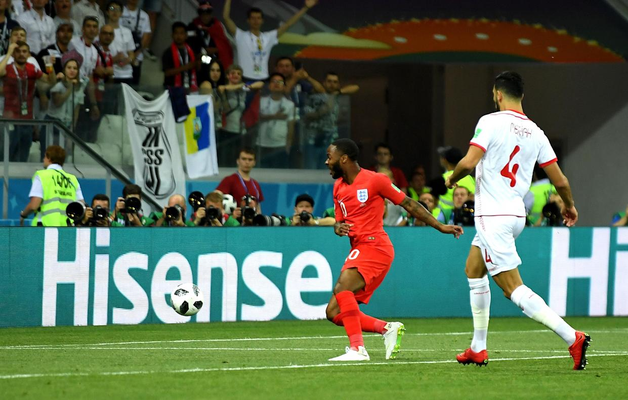 Raheem Sterling was guilty of squandering a glorious opportunity in the first half