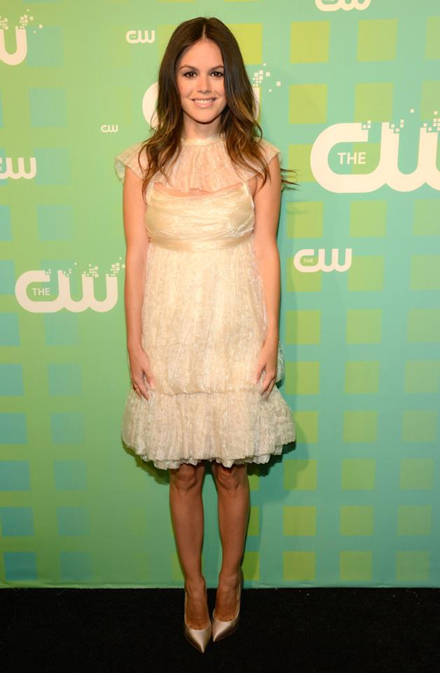 "Rachel Bilson (""Hart of Dixie"") attends The CW's 2012 Upfronts on May 17, 2012 in New York City."