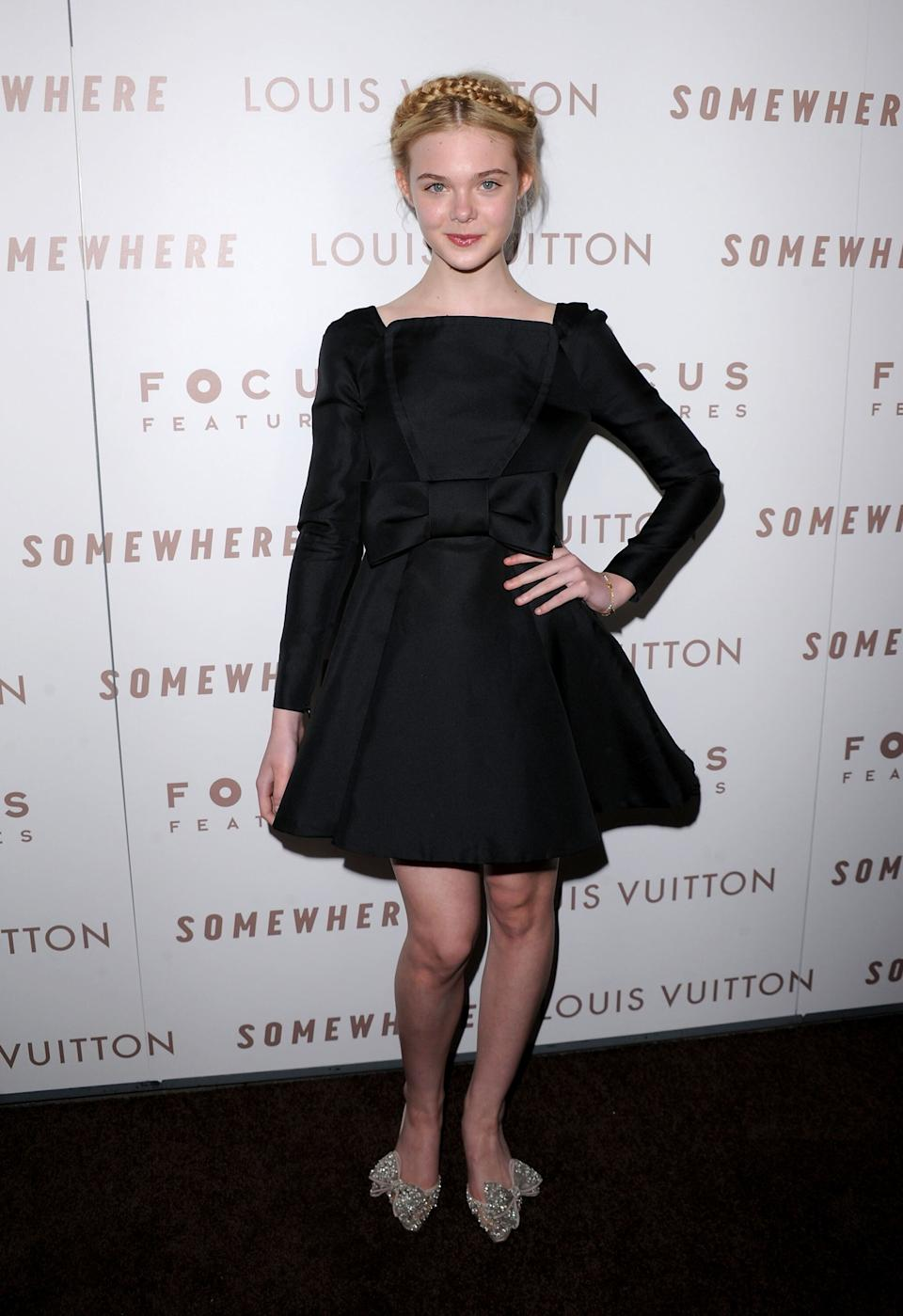 "Fanning at Focus Features' ""Somewhere"" premiere at ArcLight Hollywood."