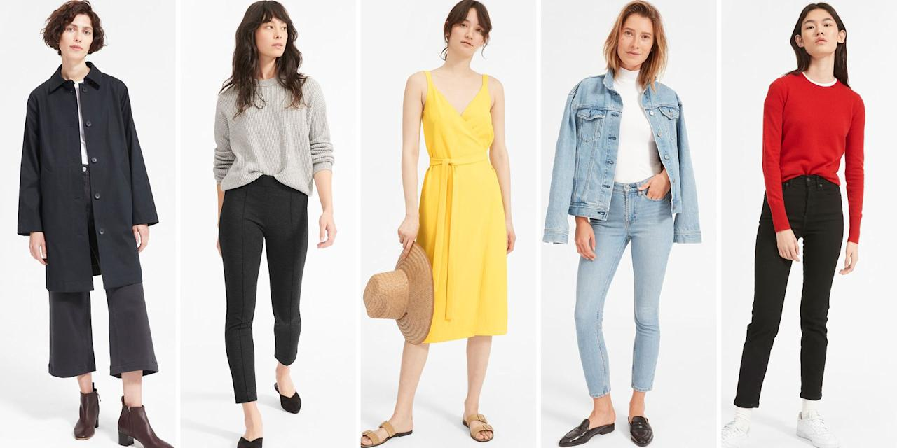 "<p>Have you ever wanted to go into a store and haggle like you're at junk yard? Well, Everlane gives you that option with their version of a sale: <a href=""https://www.everlane.com/collections/womens-sale"" target=""_blank"">The Choose What You Pay</a> program. It let's you, the world-renowned penny pincher, choose from <em></em>three<em> </em>different discounted prices for the same product (because yes, the transparent, eco-friendly, and socially-conscious brand just keeps getting better). Everlane has lowered prices on some of their best sellers, from office essentials to skinny jeans. Shop our top 10 favorite basics, ahead.<em></em></p>"
