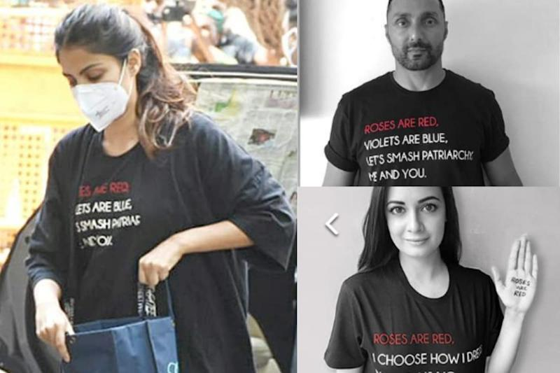 Rhea Chakraborty's T-Shirt is More Than 'Roses Are Red.' It Promotes Campaign On Sanitary Napkins to Rural Women