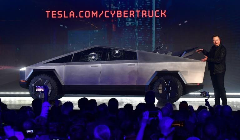 Tesla co-founder and CEO Elon Musk at the November launch of an all-electric battery-powered Tesla Cybertruck in Los Angeles