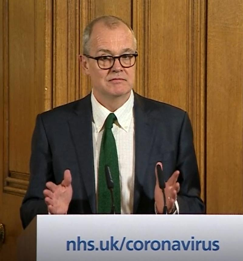A screen-grab of Chief Scientific Adviser Sir Patrick Vallance speaking at a media briefing in Downing Street, London, on Coronavirus (COVID-19) after he had taken part in the governmentÍs COBRA meeting. Picture date: Monday March 16, 2020. See PA story HEALTH Coronavirus. Photo credit should read: PA Video/PA Wire (Photo by PA Video/PA Images via Getty Images)
