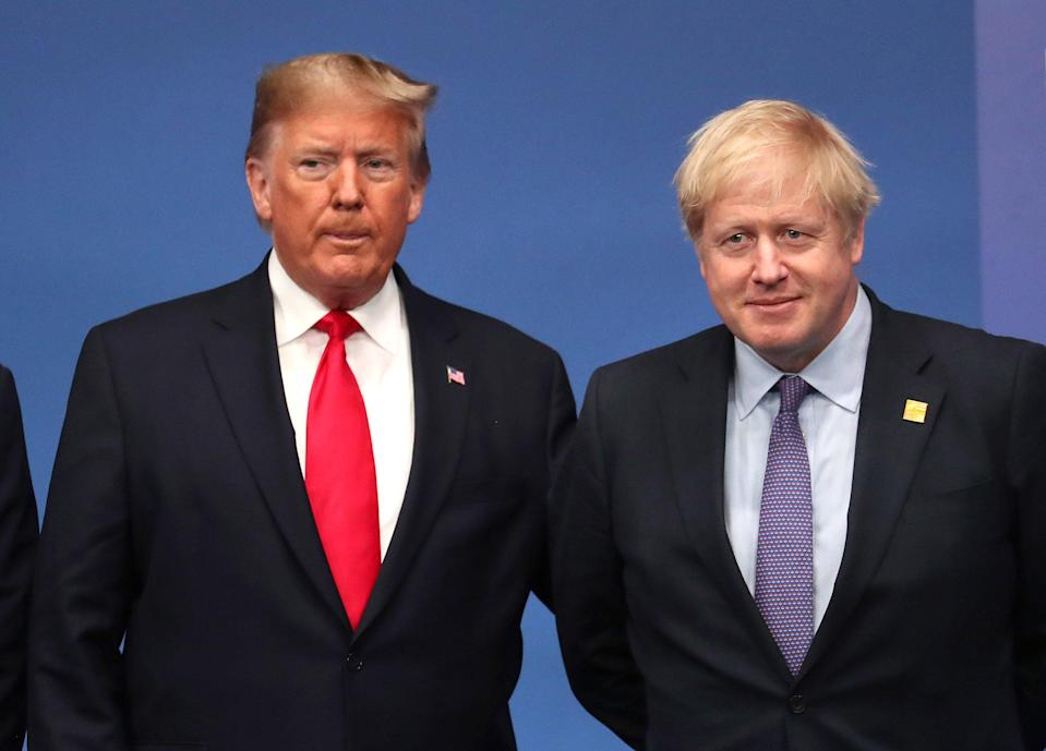 Donald Trump and Boris Johnson at the NATO summit in 2019 (Getty Images)