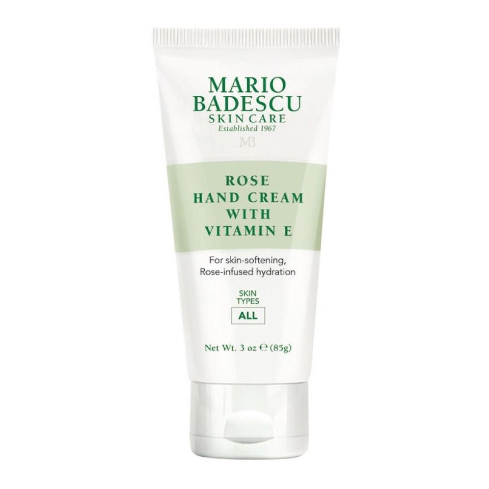 """<p>If you've ever found yourself saying, """"Gee, I sure do love Mario Badescu's Special Hand Cream With Vitamin E, but I wish it smelled more like roses,"""" the brand has answered your highly specific prayers. This reformulation of one of its top sellers infused with the beneficial flower, joining other softening, smoothing ingredients like vitamin E to fully wrap your hands in much-needed hydration.</p> <p><strong>$8</strong> (<a href=""""https://www.ulta.com/rose-hand-cream?productId=pimprod2008048"""" rel=""""nofollow"""">Shop Now</a>)</p>"""