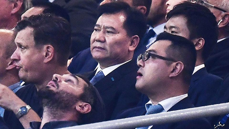 Jindong Zhang, pictured here at a Champions League match between Inter Milan and Slavia Prague in 2019.