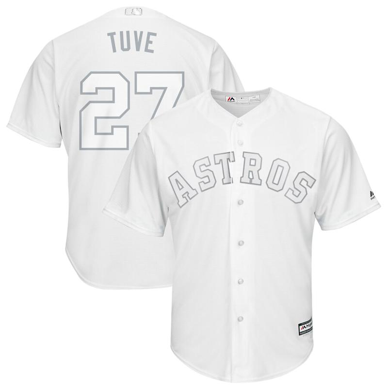 "Jose Altuve ""Tuve"" Houston Astros 2019 Players' Weekend Jersey"