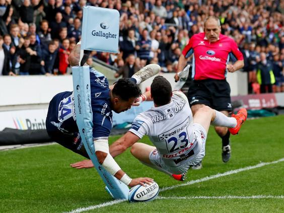 Denny Solomona's final weekend try proved one of the standout moments of the season (Action Images)