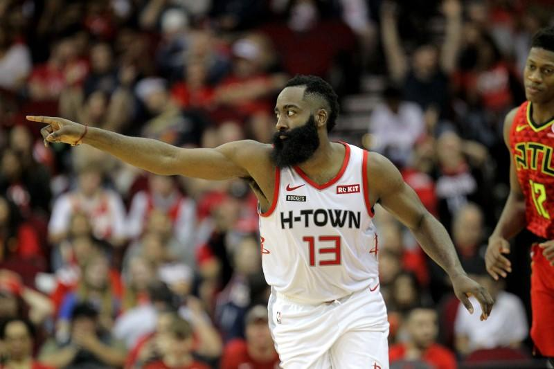 NBA roundup: Harden scores 60 as Rockets dominate Hawks