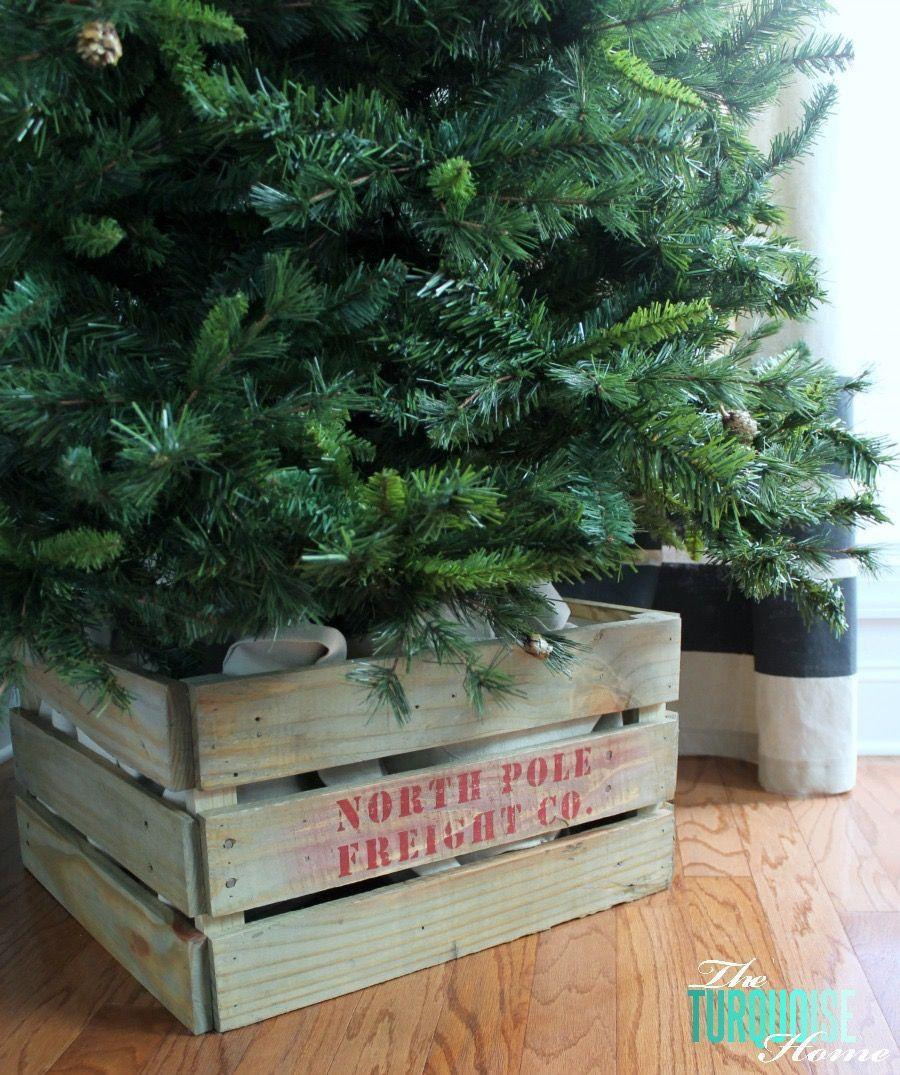 "<p>This clever tree stand cover, made from a pallet or pine boards, lends a rustic feel to your decor. Finish it by stenciling on your favorite Christmas-themed saying.</p><p><strong>Get the tutorial at <a href=""https://theturquoisehome.com/how-to-build-a-crate/"" rel=""nofollow noopener"" target=""_blank"" data-ylk=""slk:The Turquoise Home"" class=""link rapid-noclick-resp"">The Turquoise Home</a>.</strong></p><p><a class=""link rapid-noclick-resp"" href=""https://www.amazon.com/DOVETAILS-Stencils-Alphabet-Numbers-Capitals/dp/B07C51B17R/ref=sr_1_1_sspa?tag=syn-yahoo-20&ascsubtag=%5Bartid%7C10050.g.28746492%5Bsrc%7Cyahoo-us"" rel=""nofollow noopener"" target=""_blank"" data-ylk=""slk:SHOP STENCILS"">SHOP STENCILS</a></p>"