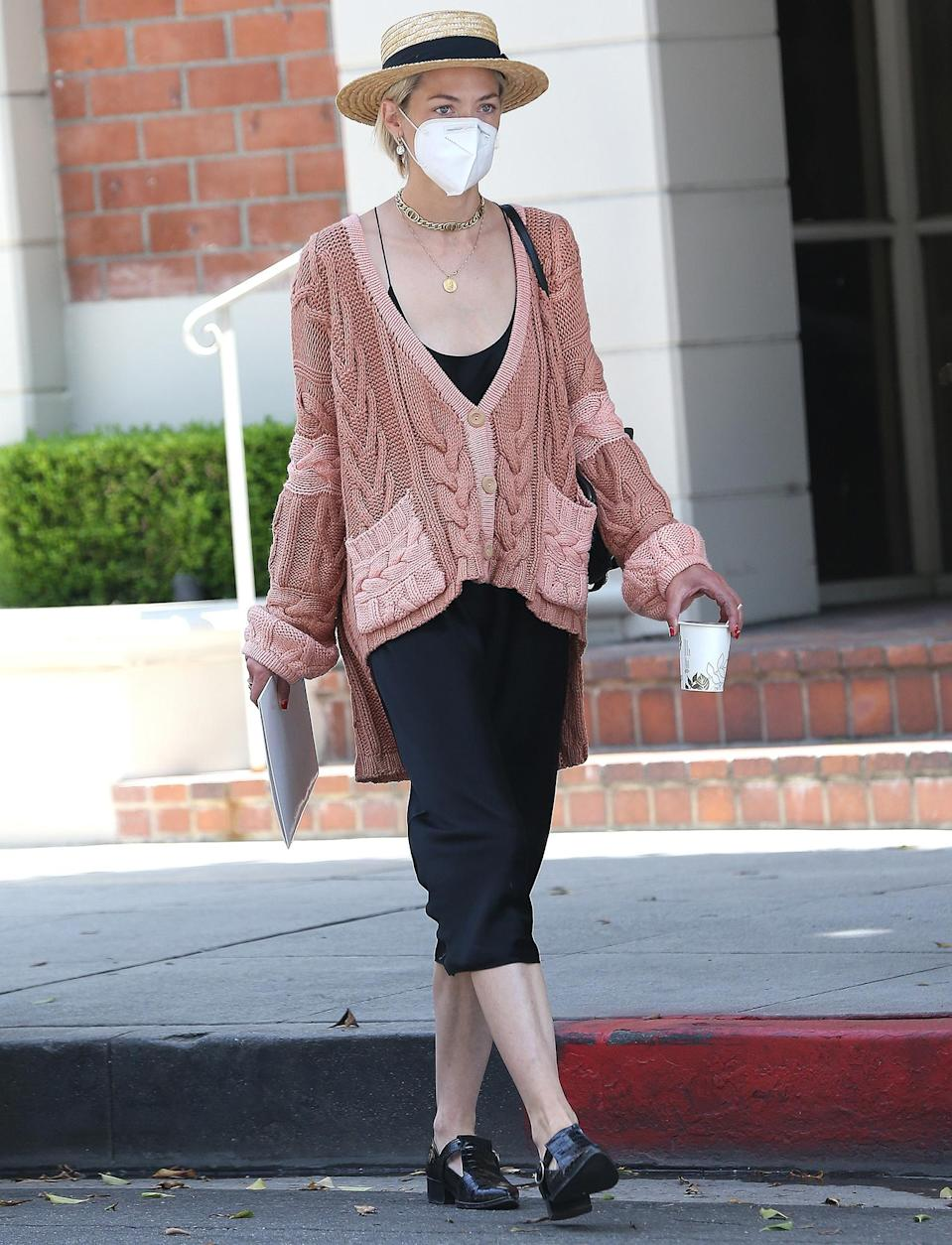 <p>Jaime King looks chic in a slouchy sweater while out for a coffee run on Wednesday in L.A. </p>