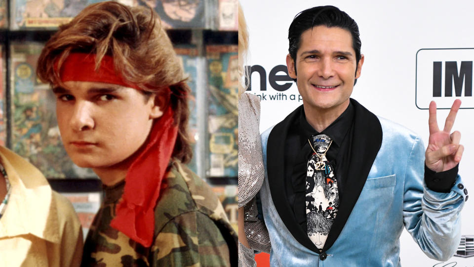 Corey Feldman in 1987 and 2020. (Credit: Warner Bros/Rodin Eckenroth/WireImage)