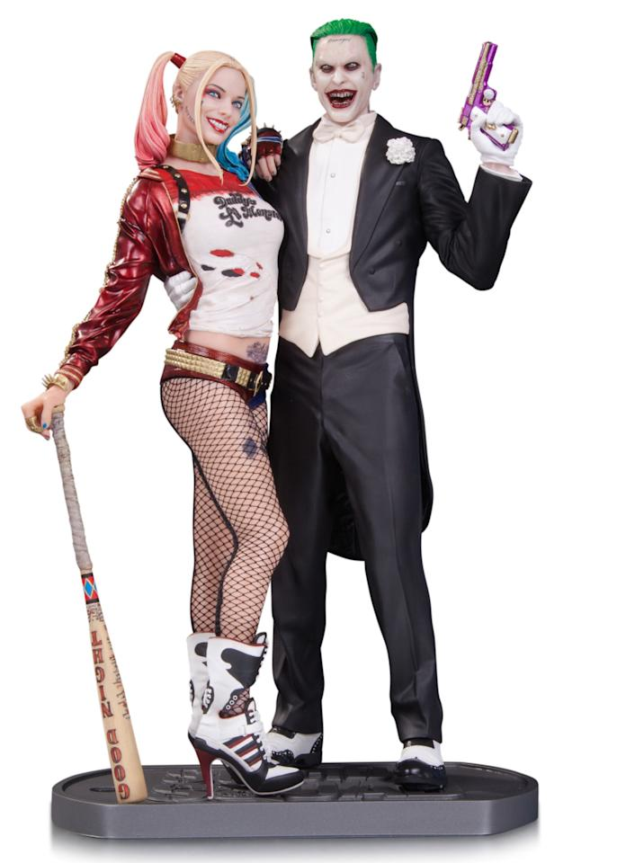 <p>The demented duo of Harley and Mr. J are captured in this 13.25-inch statue sculpted by James Marsano and Erick Sosa. <i>(Available for preorder July 18 wherever comics are sold, in stores February 2017; $250)</i></p>