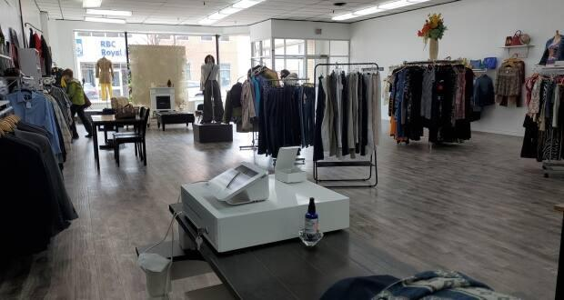 Perry expanded to a much larger storefront just one year after opening Little Black Dress Co.