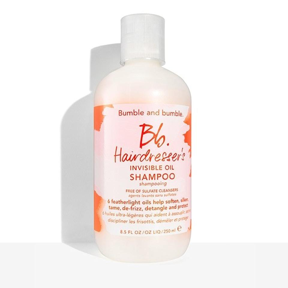 """<p>Fighting excessive frizz in humid weather starts with the type of cleansing products you're using. When your hair lacks proper moisture, it's far more likely to balloon at the first sight of humidity. This moisturizing shampoo for dry and brittle hair cleans and conditions your scalp with a powerful blend of six hydrating oils, including coconut oil, argan oil, and sweet almond oil.</p> <p>$31 (<a href=""""https://shop-links.co/1636288387338826983"""" rel=""""nofollow"""">shop now</a>)</p>"""