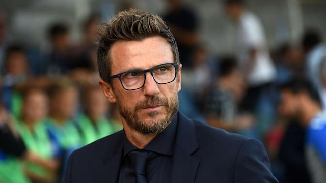 Eusebio Di Francesco pointed to his lack of fluency in English as a barrier to any move to the Premier League in the near future.