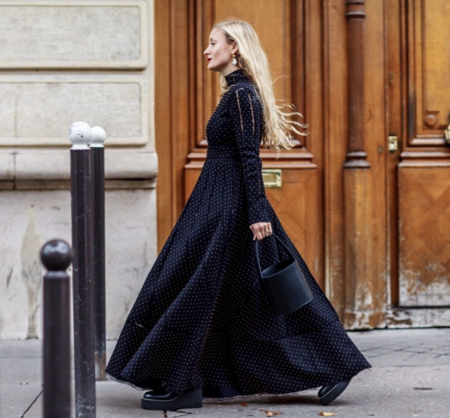 <p>Kate Foley looked effortlessly chic in this stunning black Valentino gown. <em>[Photo: your ensemble/ Instagram]</em> </p>