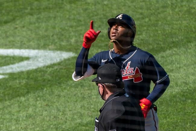 Duvall, Albies power Braves to 8-4 triumph over Nationals