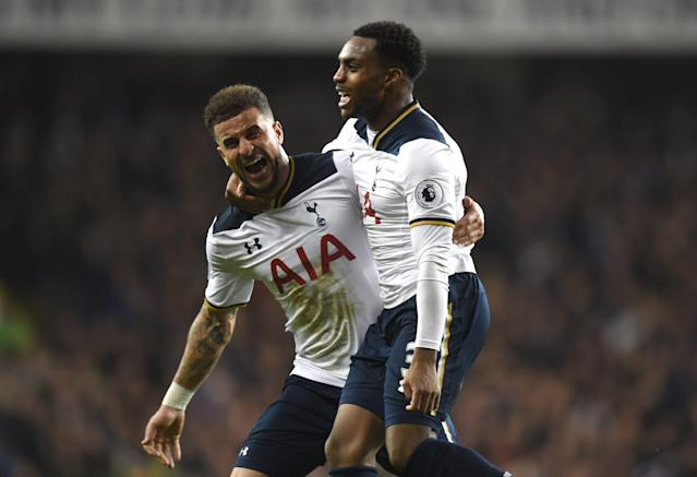 <span>Danny Rose, left, and Kyle Walker keep on improving under Pochettino's management and coaching</span> <span>Credit: Tony Marshall/Getty Images </span>